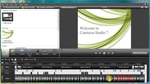 Zrzut ekranu Camtasia Studio na Windows 7