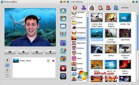 Zrzut ekranu WebcamMax na Windows 7