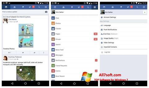 Zrzut ekranu Facebook na Windows 7