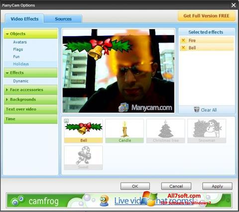 Zrzut ekranu ManyCam na Windows 7