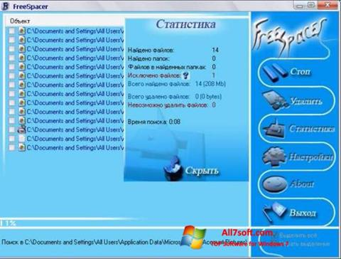 Zrzut ekranu FreeSpacer na Windows 7