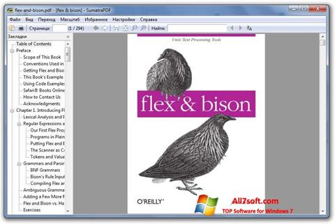 Zrzut ekranu Sumatra PDF na Windows 7