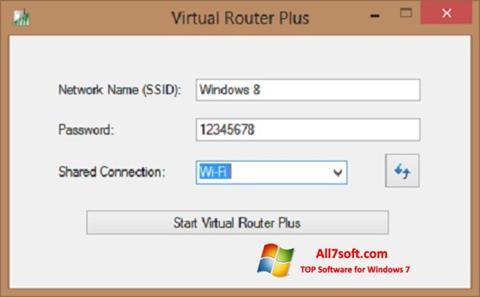 Zrzut ekranu Virtual Router Plus na Windows 7