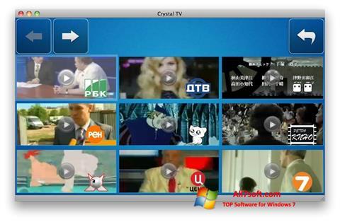 Zrzut ekranu Crystal TV na Windows 7