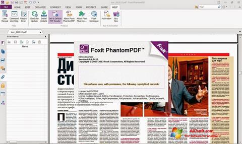 Zrzut ekranu Foxit Phantom na Windows 7