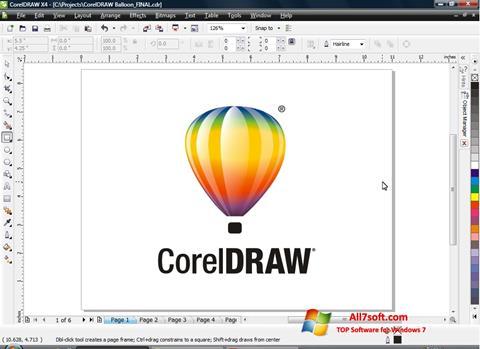Zrzut ekranu CorelDRAW na Windows 7