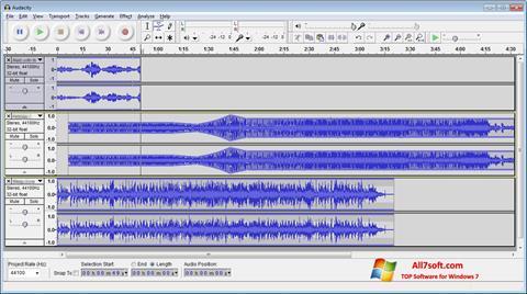 Zrzut ekranu Audacity na Windows 7