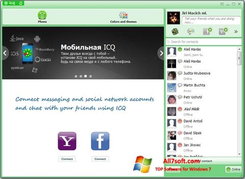 Zrzut ekranu ICQ na Windows 7