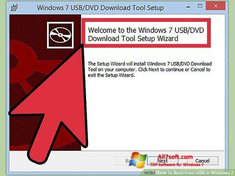 Zrzut ekranu Windows 7 USB DVD Download Tool na Windows 7