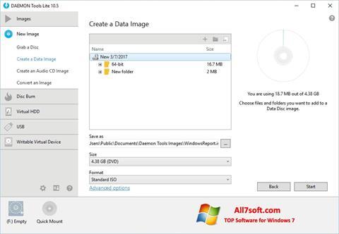 Zrzut ekranu DAEMON Tools Lite na Windows 7