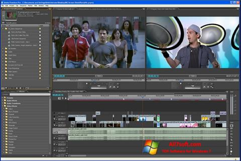 Zrzut ekranu Adobe Premiere Pro na Windows 7