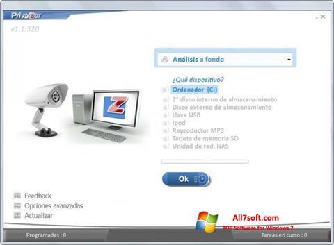 Zrzut ekranu PrivaZer na Windows 7
