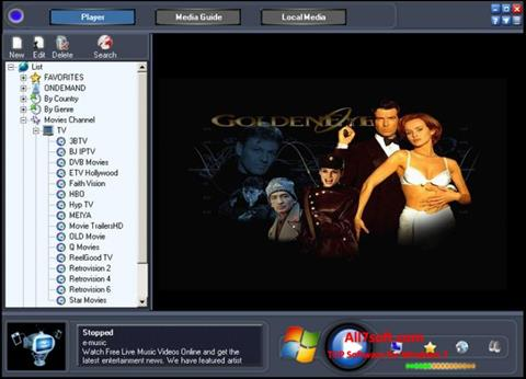 Zrzut ekranu Online TV Live na Windows 7