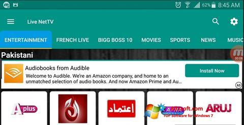 Zrzut ekranu Net TV na Windows 7