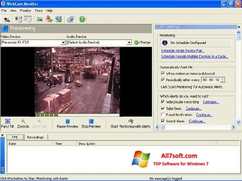 Zrzut ekranu WebCam Monitor na Windows 7