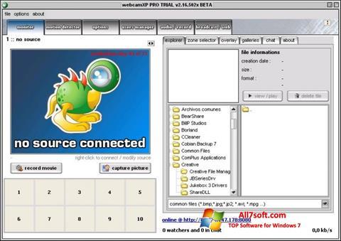 Zrzut ekranu webcamXP na Windows 7