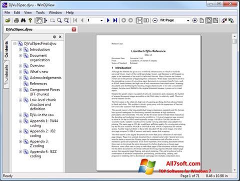 Zrzut ekranu WinDjView na Windows 7