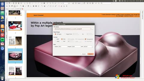 Zrzut ekranu Master PDF Editor na Windows 7