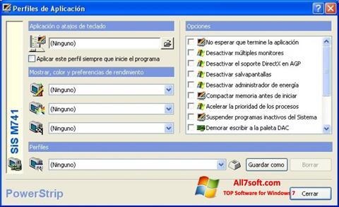 Zrzut ekranu PowerStrip na Windows 7