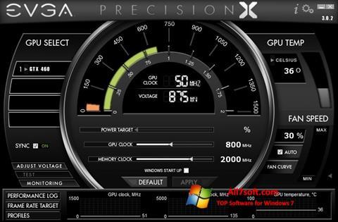 Zrzut ekranu EVGA Precision X na Windows 7