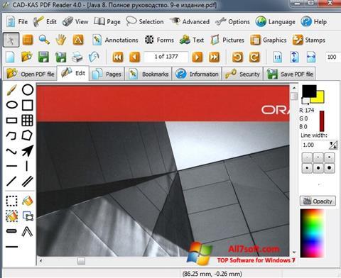 Zrzut ekranu PDF Reader na Windows 7