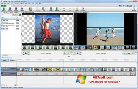 Zrzut ekranu VideoPad Video Editor na Windows 7