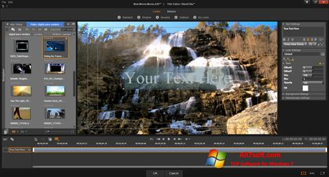 Zrzut ekranu Pinnacle Studio na Windows 7