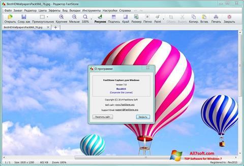 Zrzut ekranu FastStone Capture na Windows 7