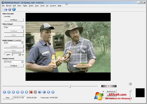 Zrzut ekranu Avidemux na Windows 7
