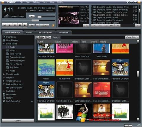 Zrzut ekranu Winamp na Windows 7