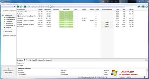 Zrzut ekranu uTorrent na Windows 7