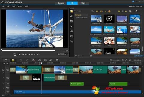 Zrzut ekranu Corel VideoStudio na Windows 7