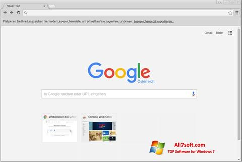 Zrzut ekranu Google Chrome na Windows 7