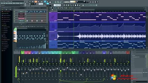 Zrzut ekranu FL Studio na Windows 7
