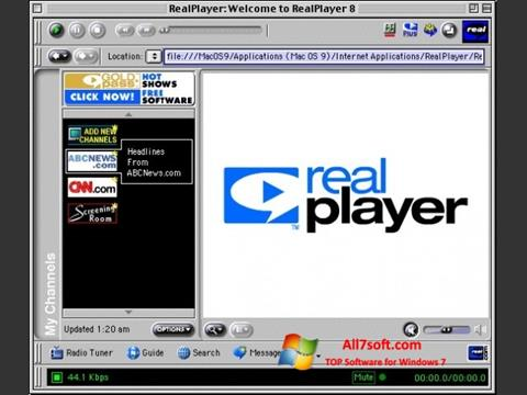 Zrzut ekranu RealPlayer na Windows 7
