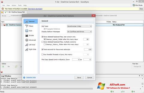 Zrzut ekranu GoodSync na Windows 7