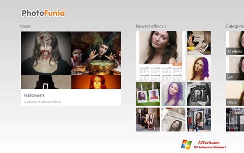 Zrzut ekranu PhotoFunia na Windows 7