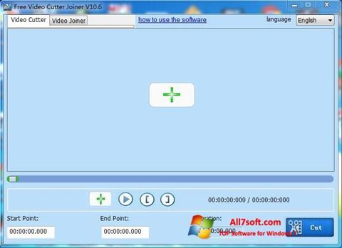 Zrzut ekranu Free Video Cutter na Windows 7