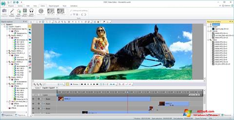 Zrzut ekranu VSDC Free Video Editor na Windows 7